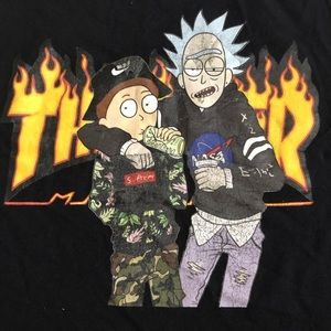 Rick & Morty Thrasher Shirt